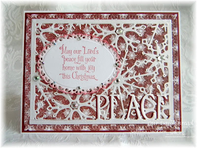 Our Daily Bread Designs Paper Collection: Snowflake Season Collection, Our Daily Bread Designs Stamp Set: Home For The Holidays, Our Daily Bread Designs Custom Dies:  Snowflake Sky, Peace, Ornate Ovals