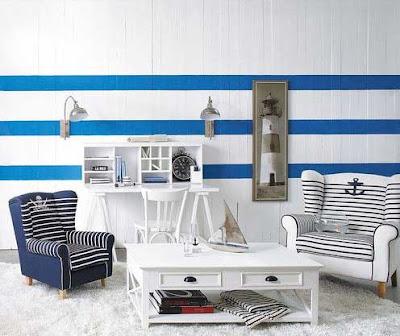 pintura en tonos azules fresca y veraniega