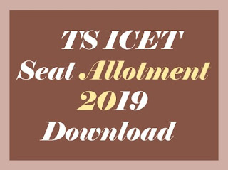 TS ICET Seat Allotment Order 2019, TS ICET Seat Allotment Results 2019