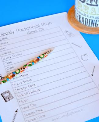 Printable Preschool Planning Page