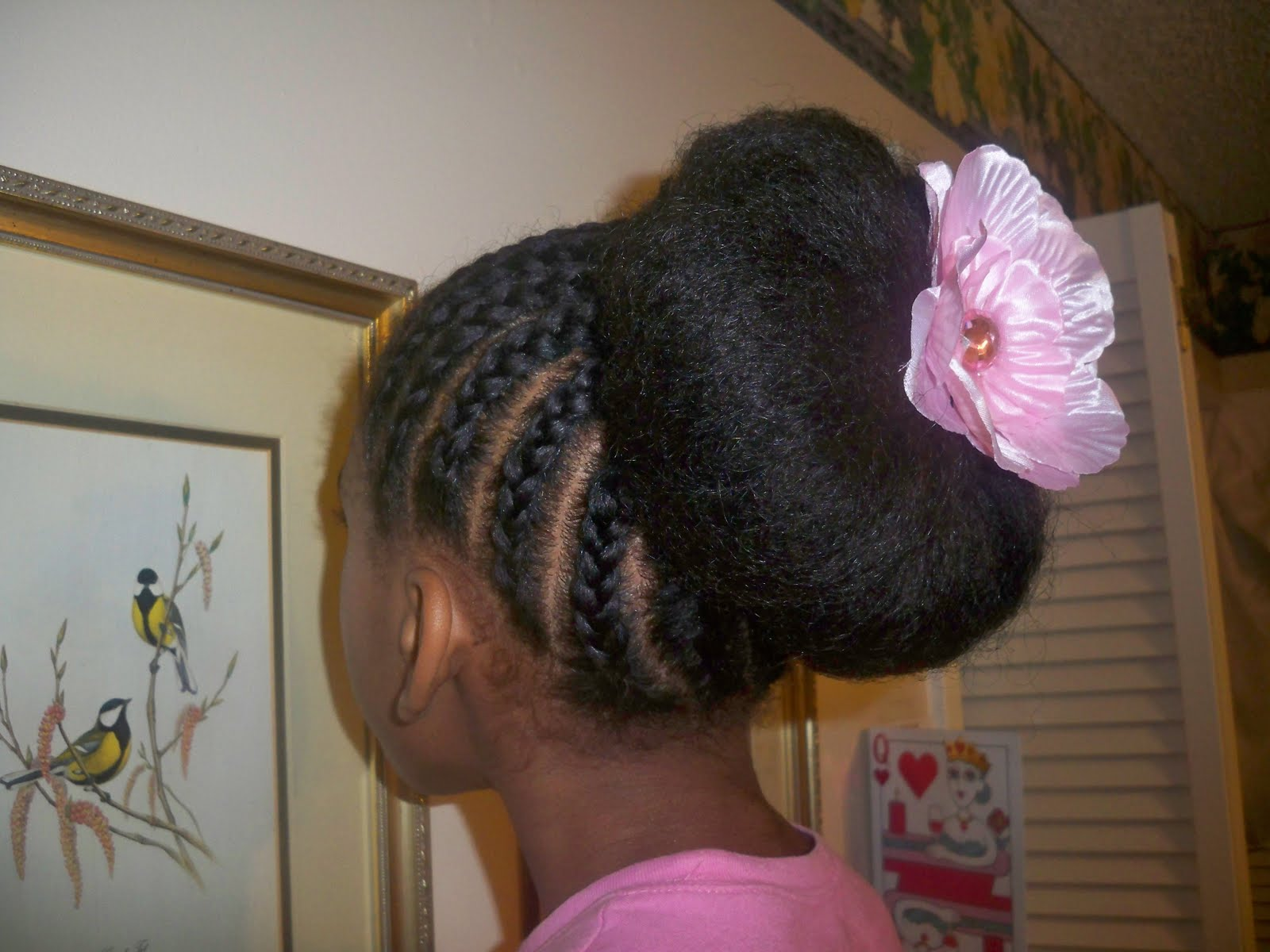 This Is A Cornrow Into A Bun Style
