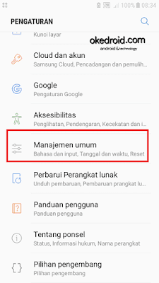 Pengaturan > Manajemen Umum settings general management samsung galaxy j5 2016 android nougat