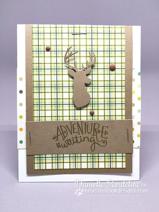 Adventure is Waiting Masculine card by Danielle Pandeline | Adventure Awaits Stamp set & Splendid Stags Die by Newton's Nook Designs #newtonsnook