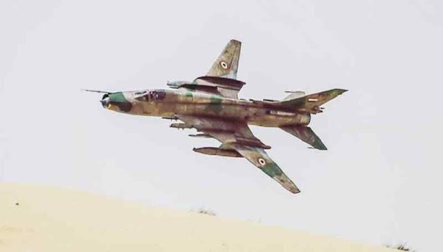 Su-22 sirio (é o Su-17 da força aérea russa renomeado para exportação)