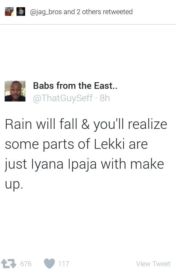 Lekki vs Ipaja: As seen on Twitter today...