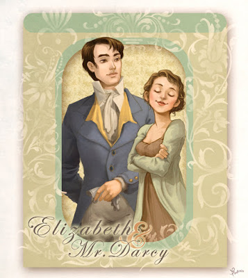 Elizabeth Bennet & Fitzwilliam Darcy (Pride and Prejudice) by Jane Austen