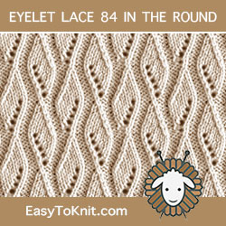 Ribbon Eyelet Lace, easy to knit in the round