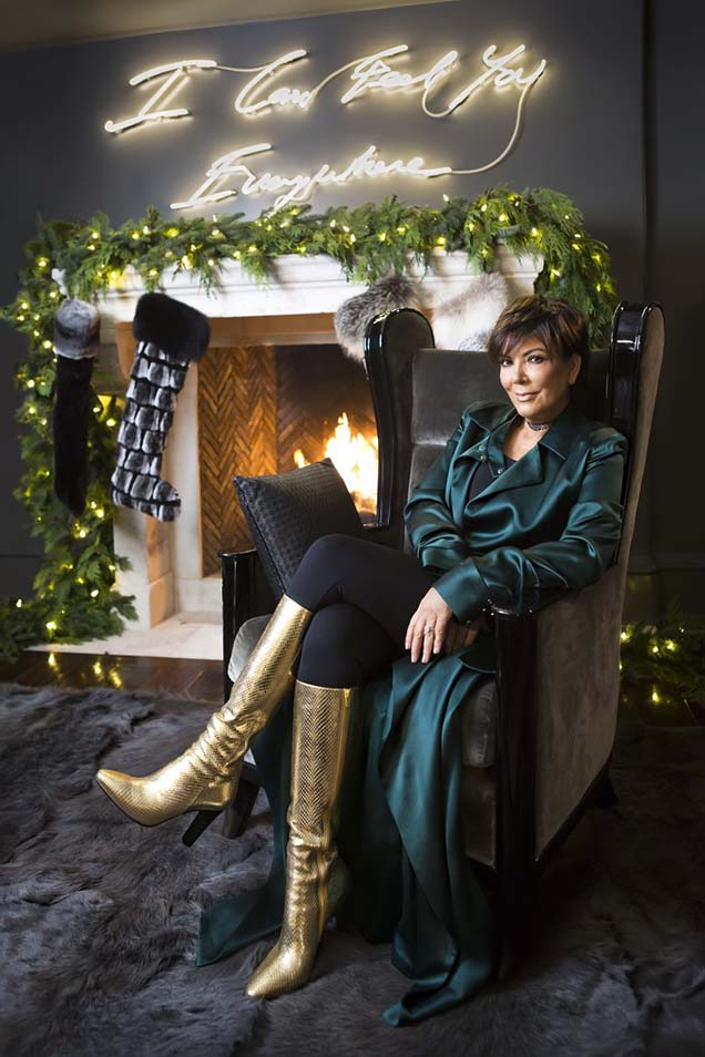 Kris Jenner's home decor for Christmas, in Calabasas