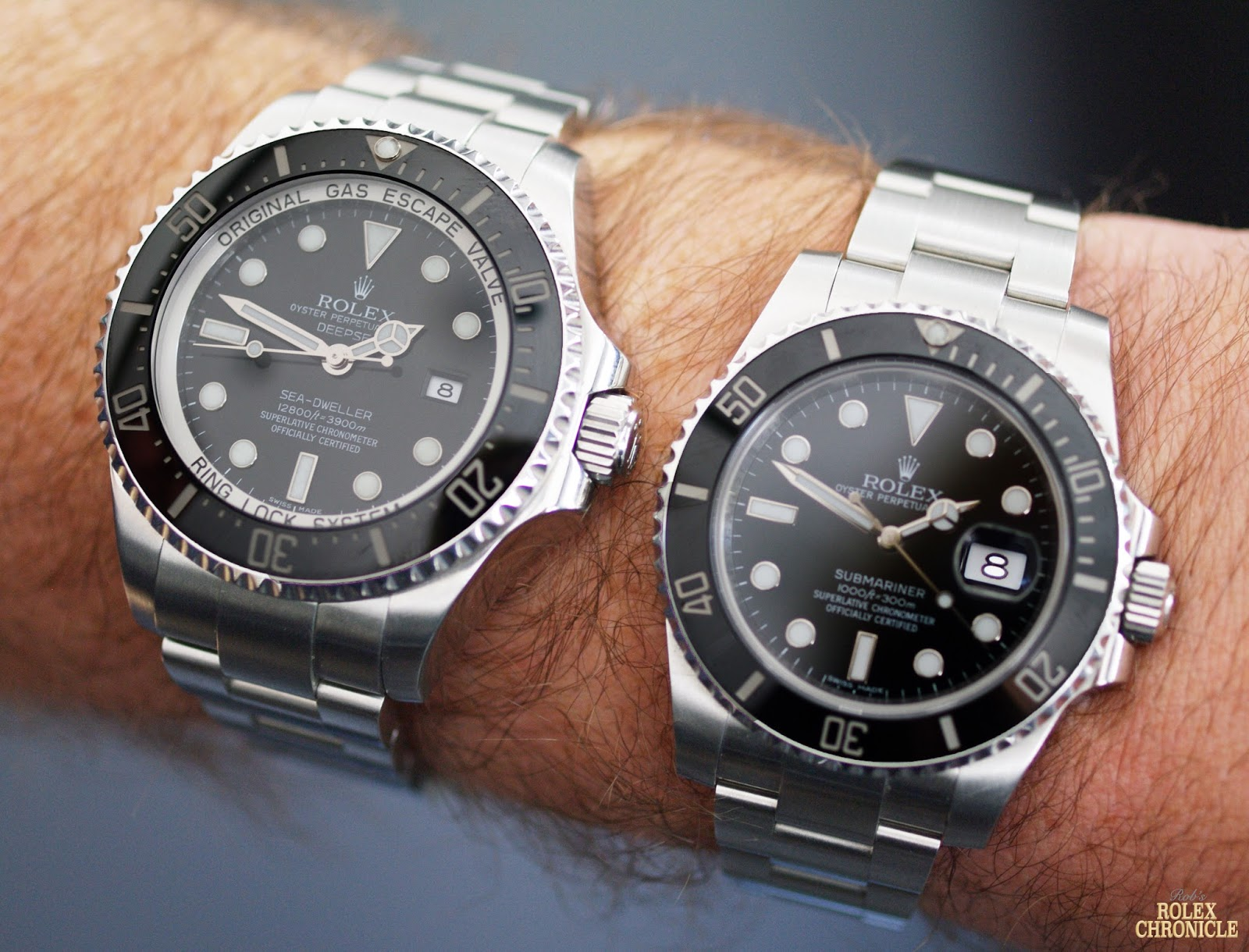 rolex model comparison submariner date vs deepsea sea