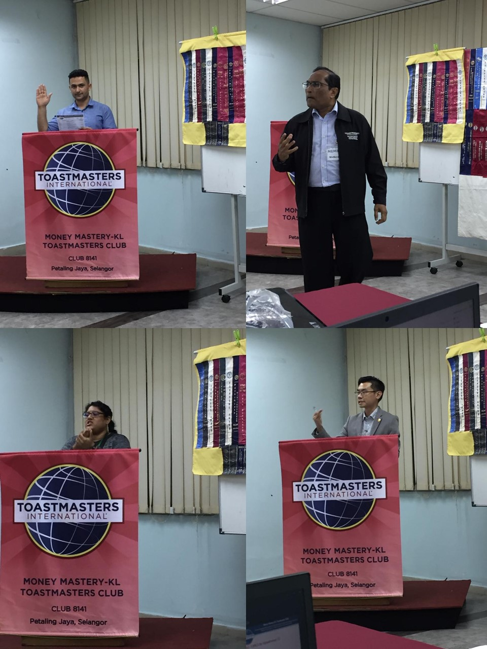 hight resolution of ron yeap acb cl played the role of toastmaster of the evening he talked about his own endeavours in public speaking and use of creativity at work and as a