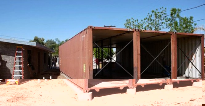 Shipping container homes upcycle living arizona - 40ft shipping container home ...