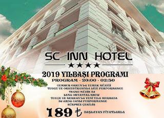 sc inn hotel ankara yılbaşı menu fiyat