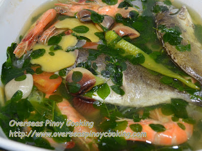 Seafood Tinowa with Malungay Recipe