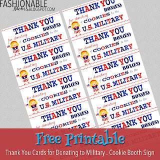 picture regarding Military Thank You Cards Free Printable called My Present day Types: Female Scout Cookies - Armed service