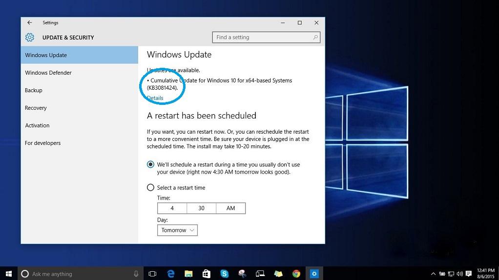 Windows 10 Reboot Loops After Update Kb3081424 Tech Tricks