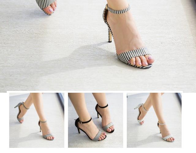 sandale elegante cu toc de zi ieftine