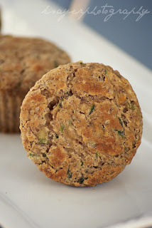 Gluten Free Zucchini Muffins with Flaxseed and Banana