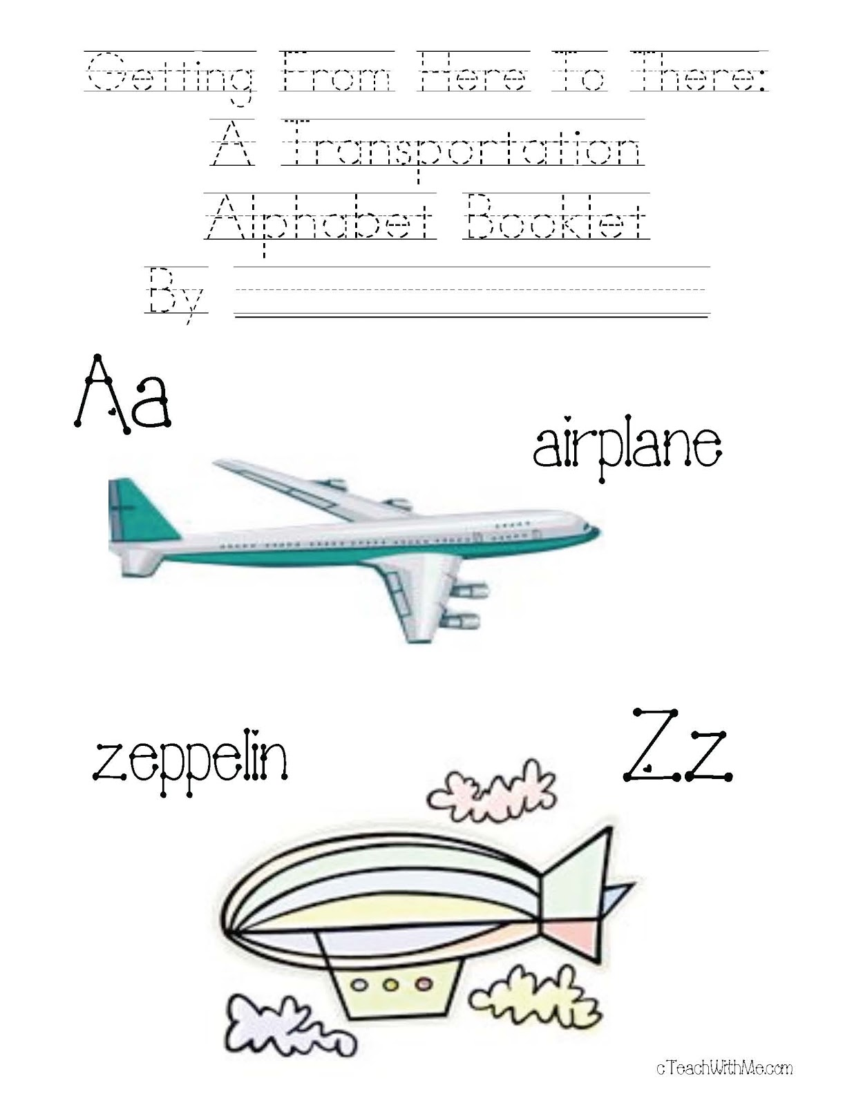 Classroom Freebies A To Z Transportation Packet