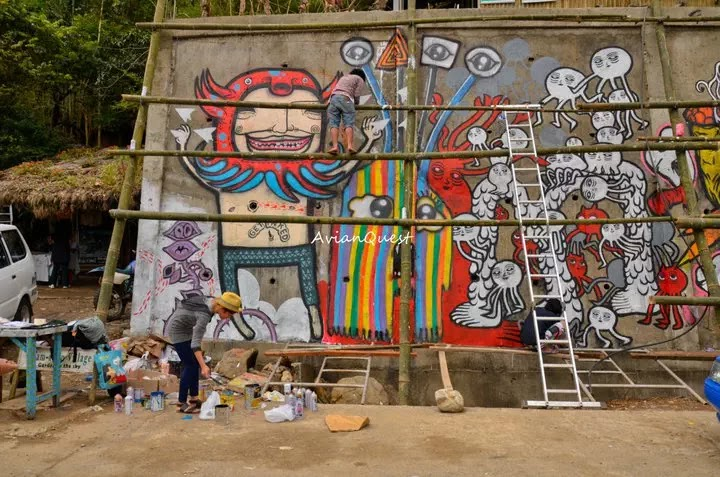 Tamawan Village Making of a Graffitti Mural Baguio City Philippines 18