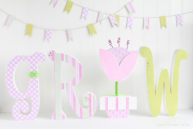 Wood Letters Decorated For Spring Plus A Wood Creations