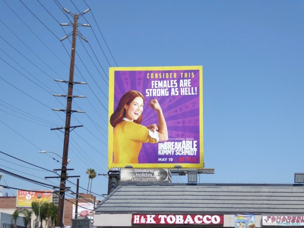 Unbreakable Kimmy Schmidt season 3 billboard