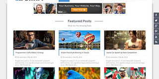 Bolina responsive Blogger template
