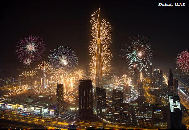 Dubai on New Year's Eve