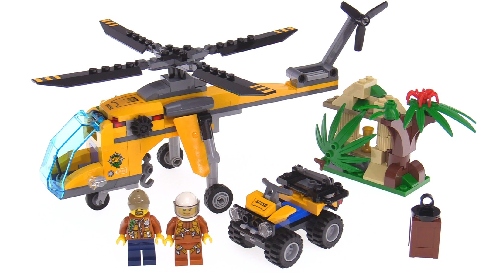 LEGO City Jungle Cargo Helicopter review - 60158