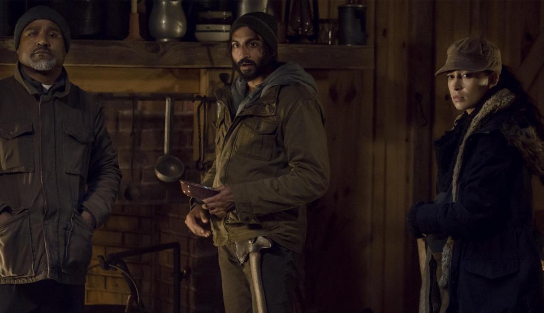 Rsoita, Siddiq, Gabriel, en el episodio 9x16 The Storm de The Walking Dead