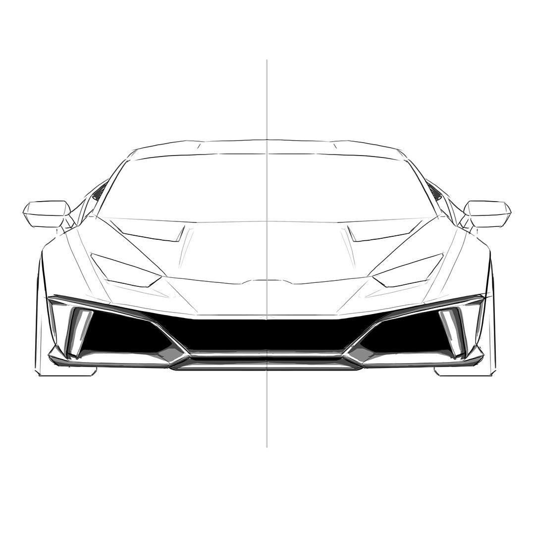Lamborghini Huracan Drawing Easy Exclusive Lamborghini Coloring