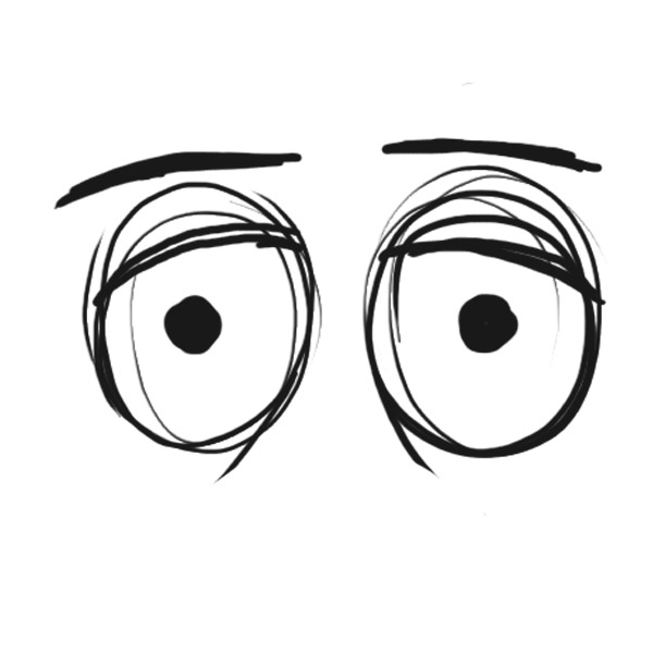 eyes looking down clipart - photo #9