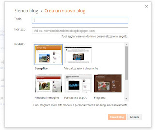 Creare un blog di prova