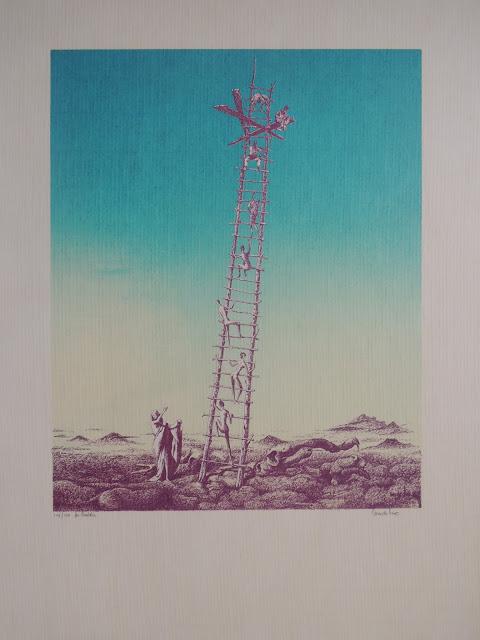 Litografía surrealismo en venta Jan Van Der Loo