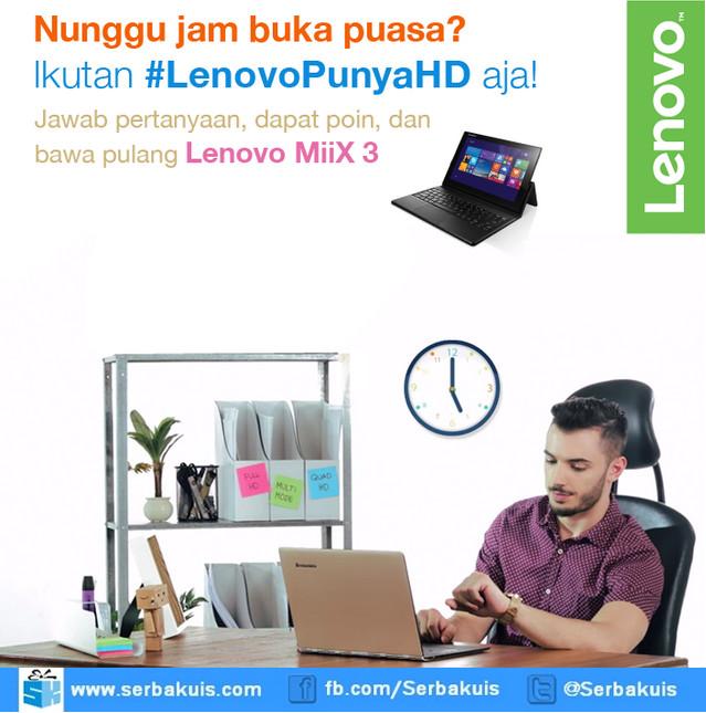 Kuis Lenovo Punya HD Berhadiah 3 unit Lenovo MIIX 3