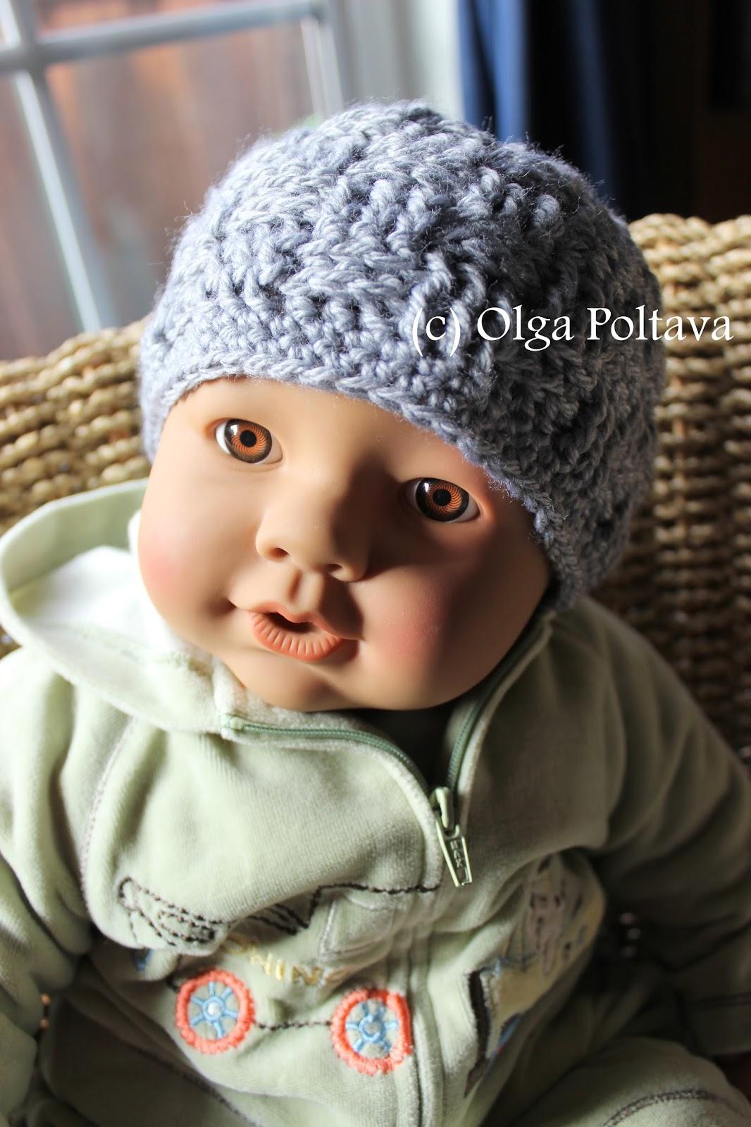 lacy crochet: basketweave baby hat, free crochet pattern