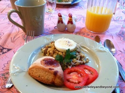 breakfast at Grape Leaf Inn in Healdsburg, California