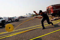 MASSIVE CALIFORNIA WILDFIRE, FIREFIGHTERS WRESTLE TO CONTROL