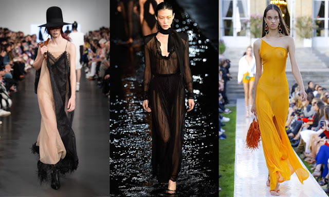 sheer fabrics trend House Margiela, Saint Laurent, Jacquemus