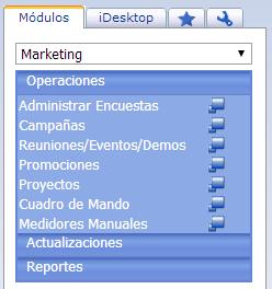 Módulo de Marketing - Productos Web de eFactory: ERP/CRM, Nómina, Contabilidad, Punto de Venta, Productos para Móviles y Tabletas