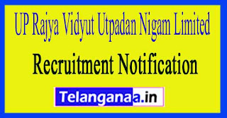 UP Rajya Vidyut Utpadan Nigam Limited UPRVUNL Recruitment Notification 2017