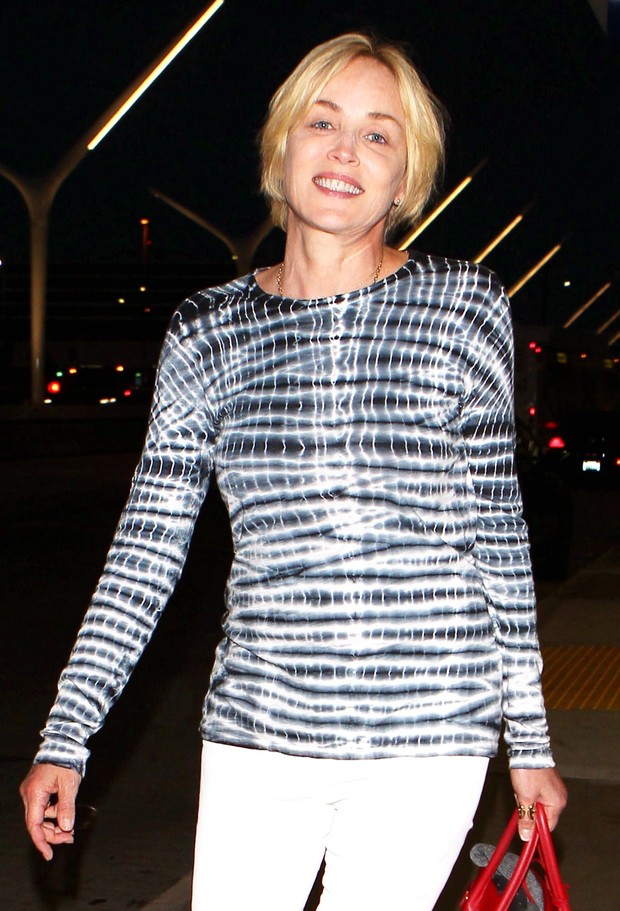 Sharon Stone shows signs of age