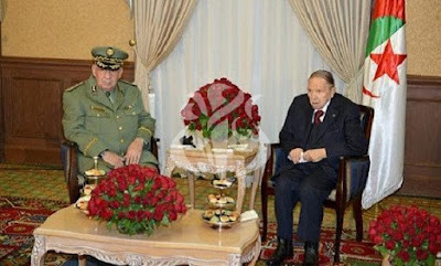 Bouteflika in terrible shape with Salah on Monday in Algiers