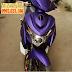 Sơn xe Yamaha Nouvo 3 màu tím nhám cực đẹp