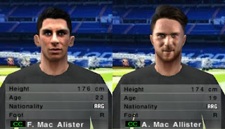 PES 6 Facepack Francis & Alexis Mac Allister by Cuervo96