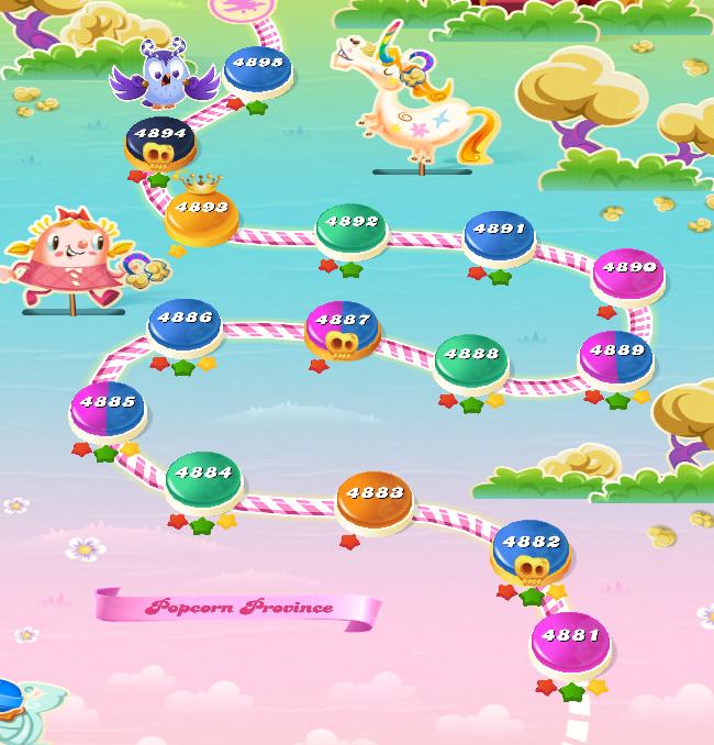 Candy Crush Saga level 4881-4895