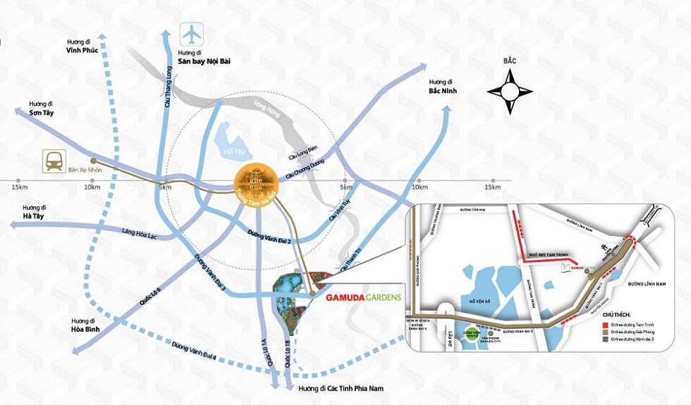 Tuyến đường tới dự án Gamuda Gardens.