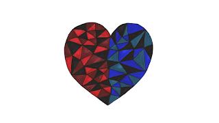 valentine, valentine's, animation, pattern, foxes, heart | jen haugan