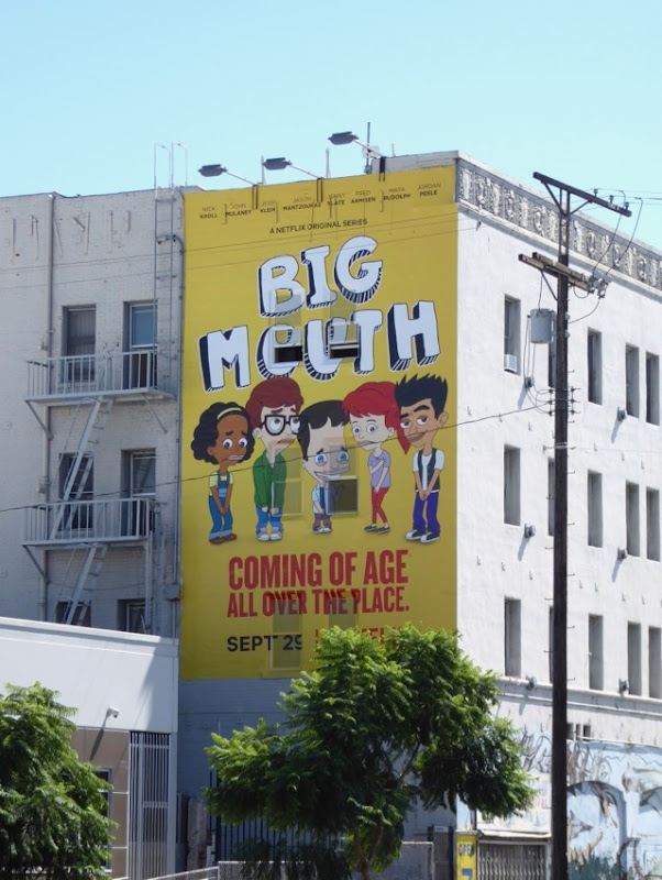 Big Mouth series launch billboard