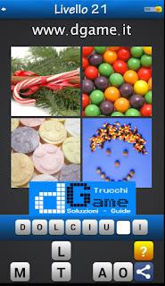 Trova la Parola - Foto Quiz con 4 Immagini e 1 Parola pacchetto 1 soluzione livello 21