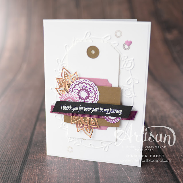 Paisleys & Petals, Stampin' Up!, Papercraft by Jennifer Frost